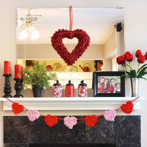 Dekoracija dnevne sobe za Dan zaljubljenih slika 4