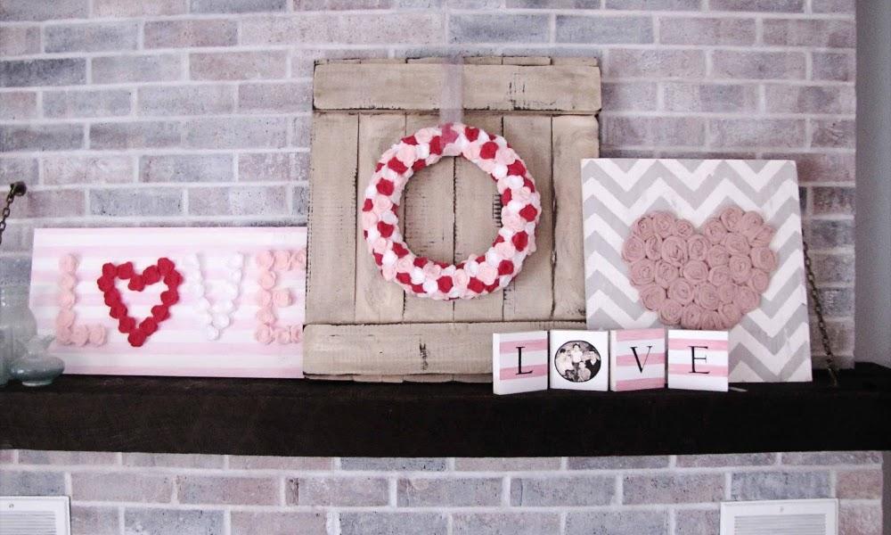 Dekoracija dnevne sobe za Dan zaljubljenih