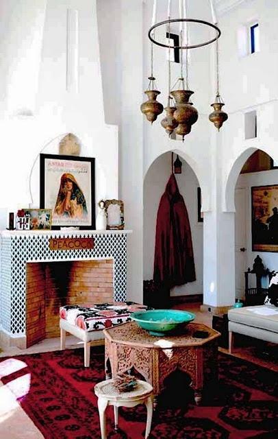 Dnevna soba u marokanskom stilu slika 2