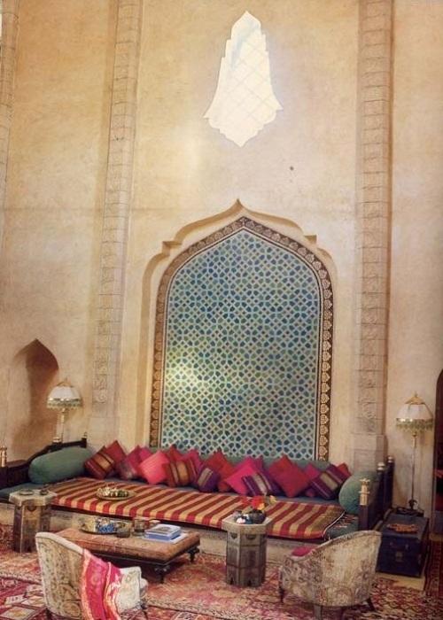 Dnevna soba u marokanskom stilu slika 5