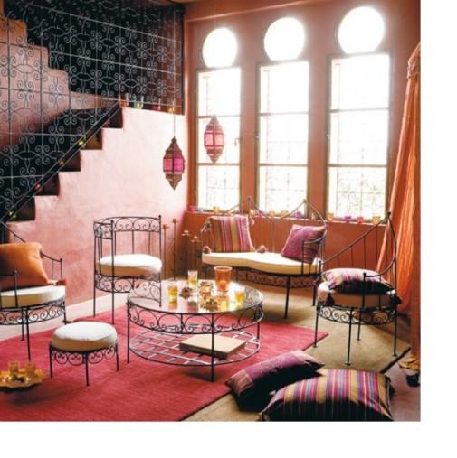 Dnevna soba u marokanskom stilu slika 6