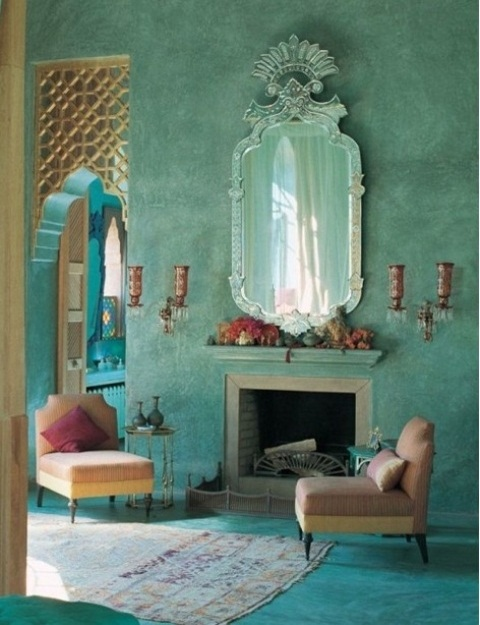 Dnevna soba u marokanskom stilu slika 8
