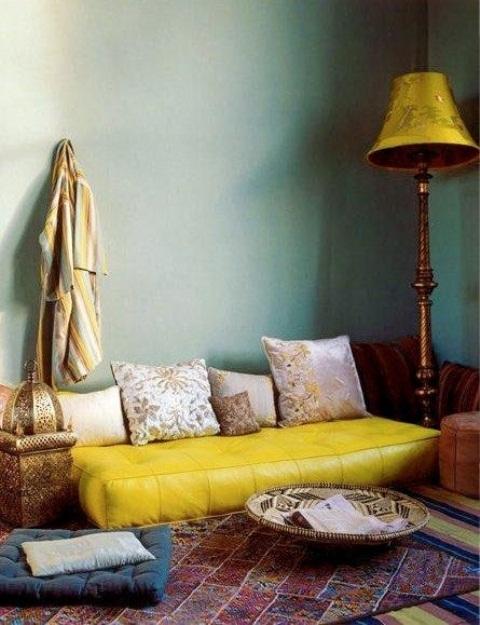 Dnevna soba u marokanskom stilu slika 9
