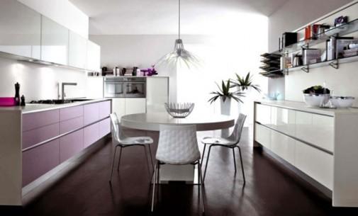 Moderna kuhinja u pastelnim pink i ljubicastim tonovima slika2