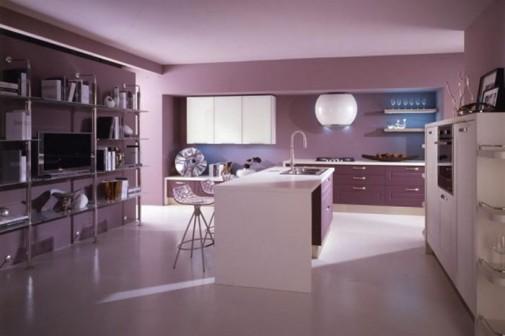 Moderna kuhinja u pastelnim pink i ljubicastim tonovima slika3