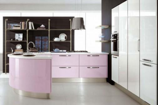 Moderna kuhinja u pastelnim pink i ljubicastim tonovima slika4