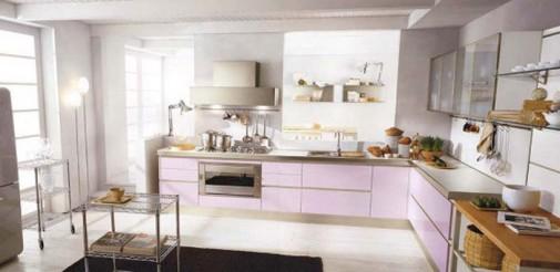 Moderna kuhinja u pastelnim pink i ljubicastim tonovima slika6