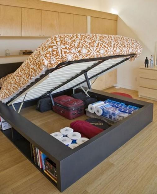 Pametne ideje za odlaganje stvari u spavaćoj sobi slika2