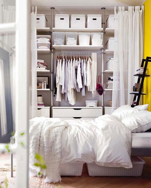 Pametne ideje za odlaganje stvari u spavaćoj sobi slika4