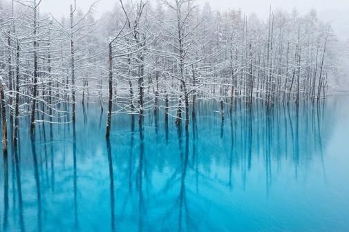 Plavo jezero Japan slika 2