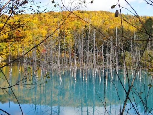 Plavo jezero Japan slika 4