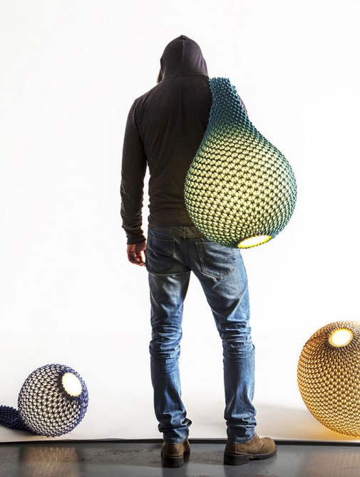 Organska ručno pletena lampa bravacasa magazin