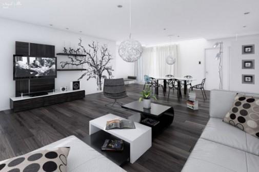 Savremene crno-bele dnevne sobe slika2