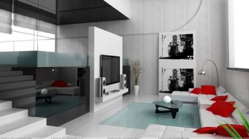 Savremene crno-bele dnevne sobe slika4