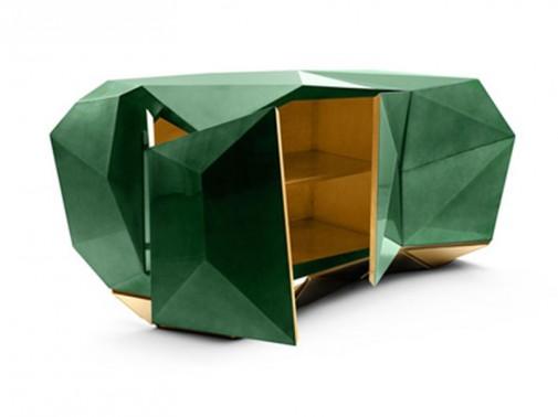 Smaragdno zelena komoda slika2