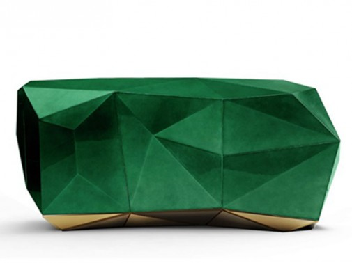 Smaragdno zelena komoda slika3