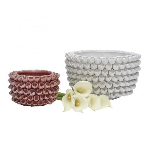 Vaze ukrašene 3D keramičkim cvetićima