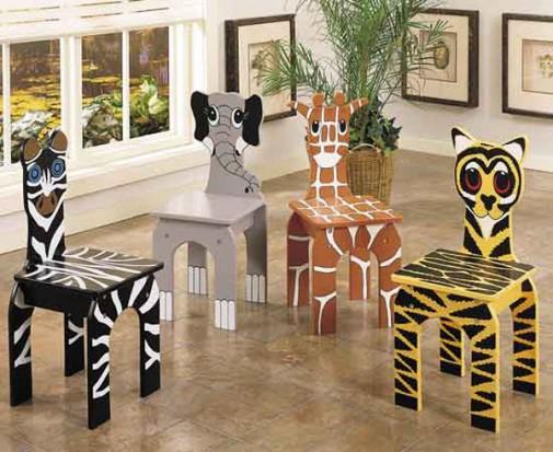Životinje na stolicama za decu slika4