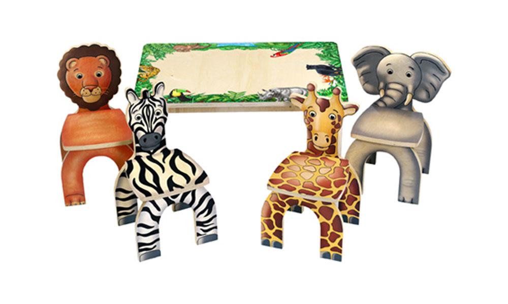 Životinje na stolicama za decu