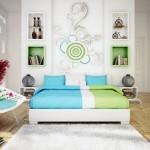 Akcentirani zidovi kao ukras spavaće sobe