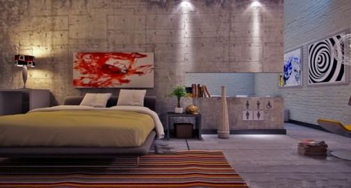 Akcentirani zidovi kao ukras spavaće sobe slika4