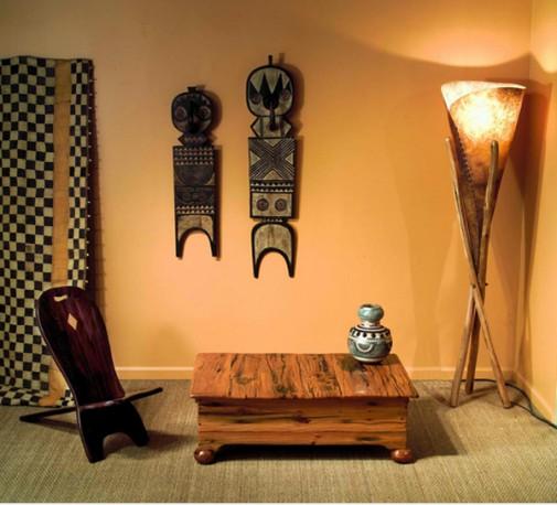 Dnevna soba u stilu Afrike slika 2