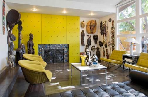 Dnevna soba u stilu Afrike slika 3