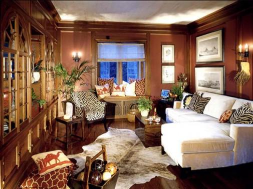 Dnevna soba u stilu Afrike slika 4