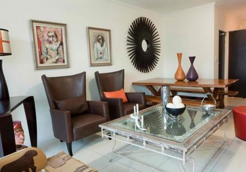 Dnevna soba u stilu Afrike slika 6