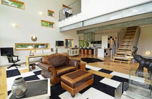 Dnevna soba u stilu Afrike slika 7