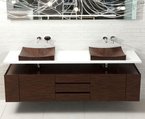 Drvene kade i lavaboi obezbeđuju neobičnost i luksuz u kupatilu   BravaCasa...