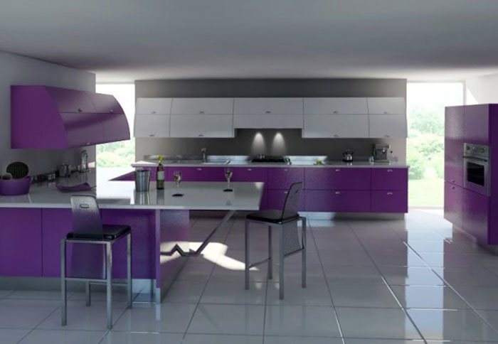 Ljubičasta kuhinja slika2