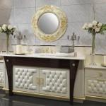 Luksuzno i moderno kupatilo u boji šampanjca