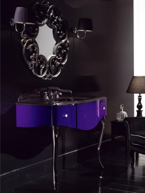 Savremeno klasičan lavabo i ogledalo slika2