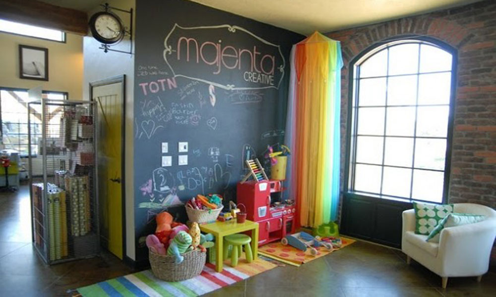 Školska tabla u dečijoj sobi