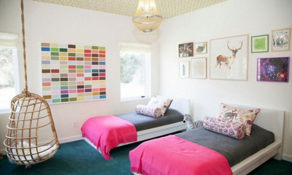 Upotreba razigrane ciklama boje u dečijim sobama