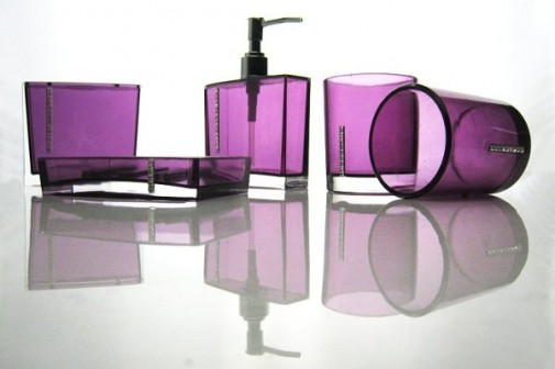Violet dodaci za kupatilo slika 3
