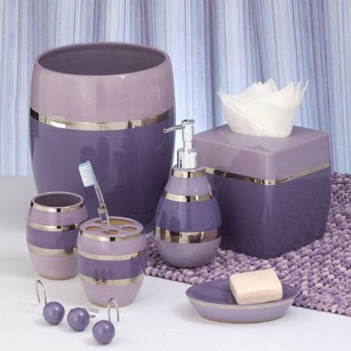 Violet dodaci za kupatilo slika 5