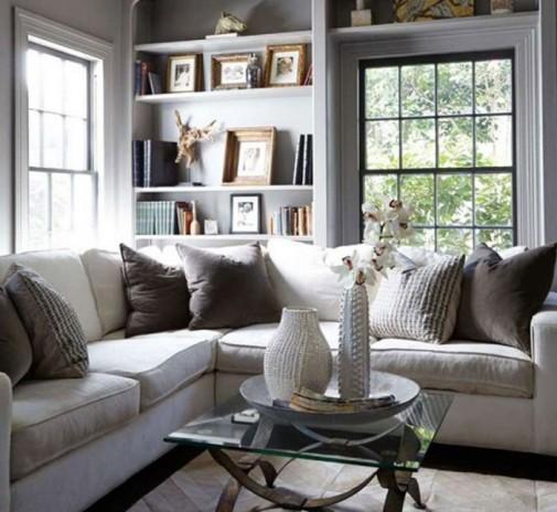 Dizajn neutralnih dnevnih soba slika2