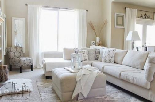 Dizajn neutralnih dnevnih soba slika5