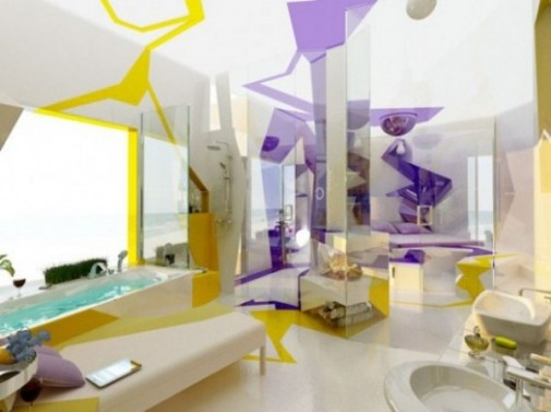 Futurizam u kupatilu slika 6