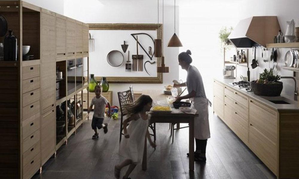 Kuhinja od drveta prepuna detalja
