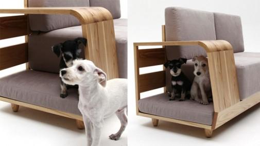 Moderna sofa sa pripadajućom kućicom za ljubimca slika2