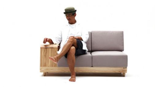 Moderna sofa sa pripadajućom kućicom za ljubimca slika3