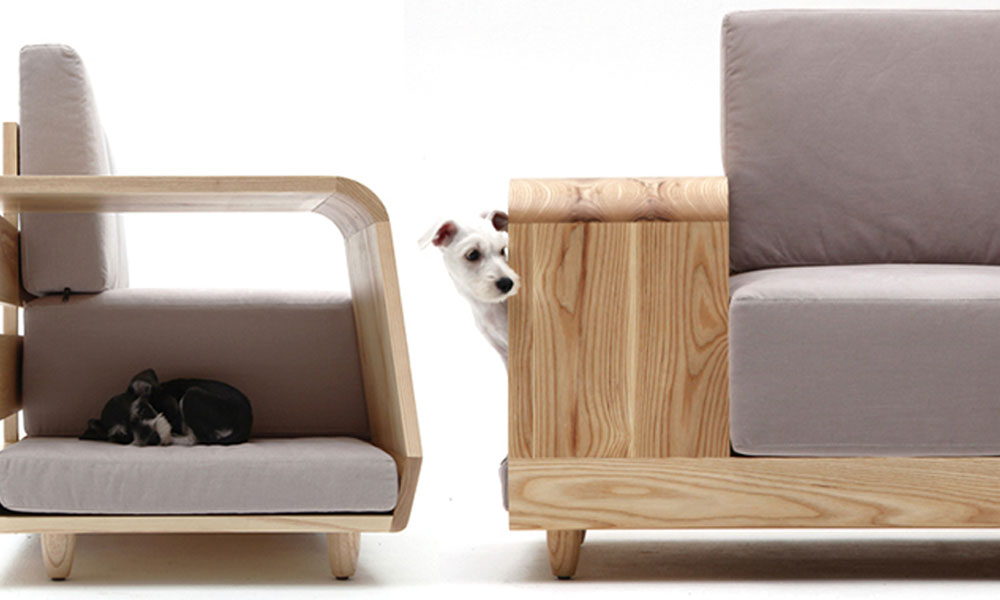 Moderna sofa sa pripadajućom kućicom za ljubimca