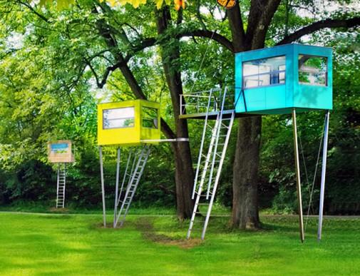 Neobične i raznobojne kućice za drveće slika2