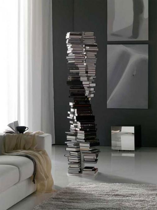 Polica za knjige u obliku spirale slika3