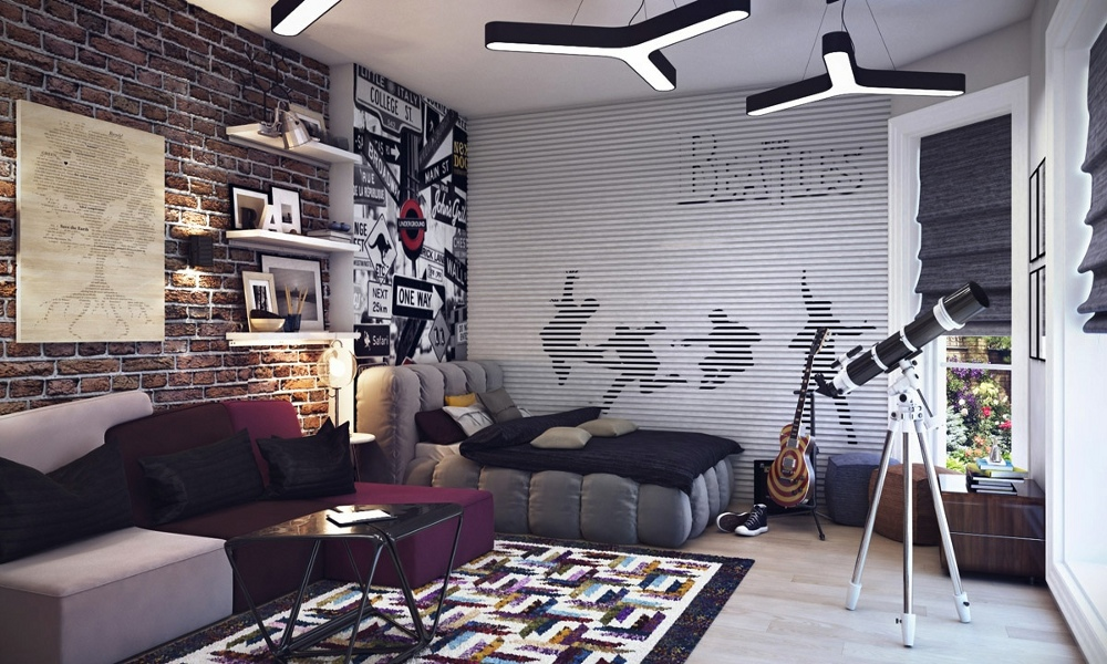 Soba u industrijskom stilu