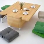 Sofa koja se transformiše u mali sto za ručavanje