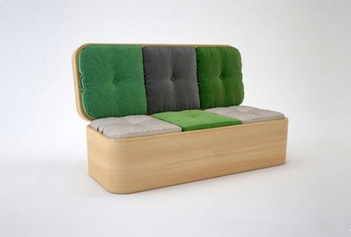 Sofa koja se transformiše u mali sto za ručavanje slika3